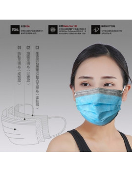 50 Biomass Graphene Disposable Meltblown Cloth Masks